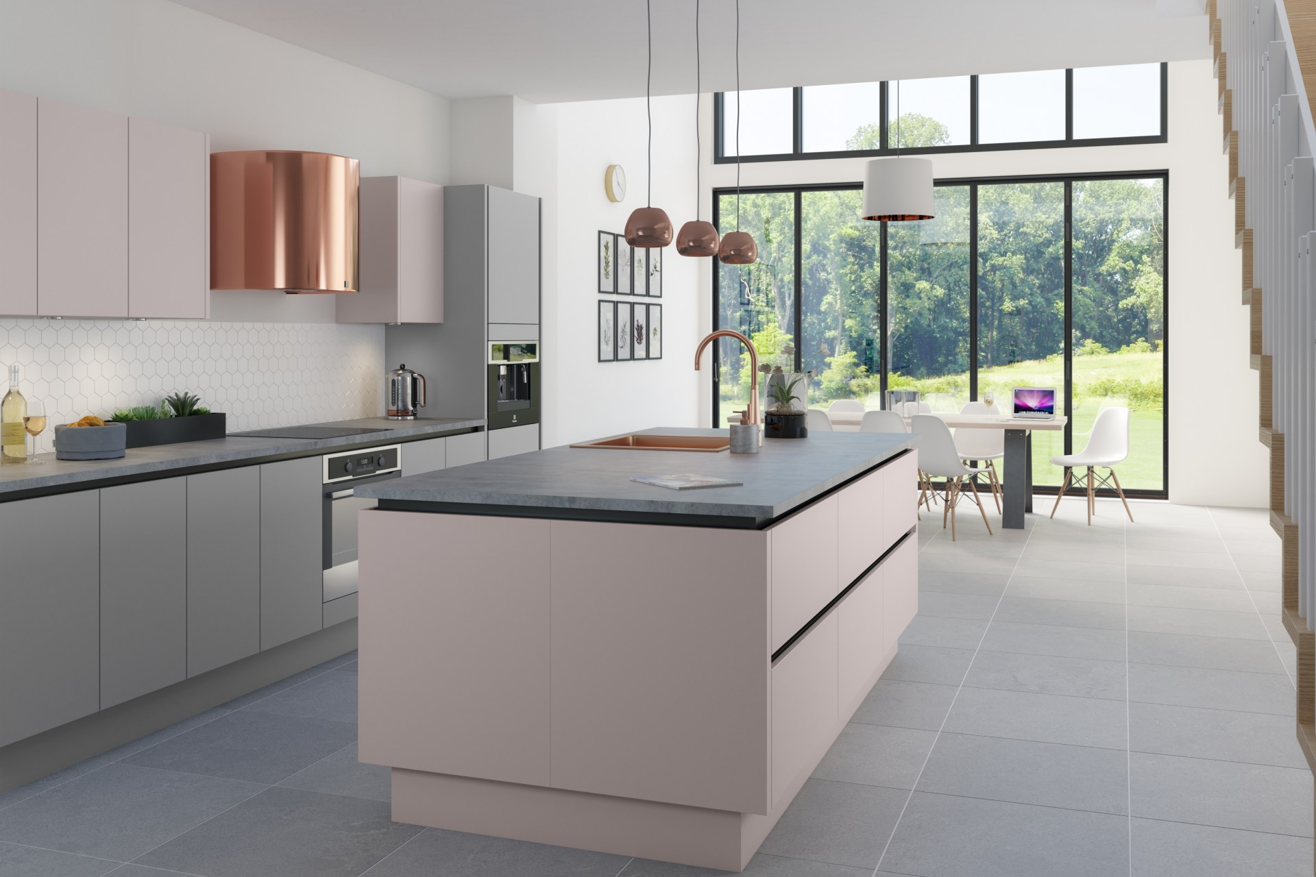 Integra Soho by Magnet. Ultra contemporary design with sleek handless doors and available in 20 different colours.