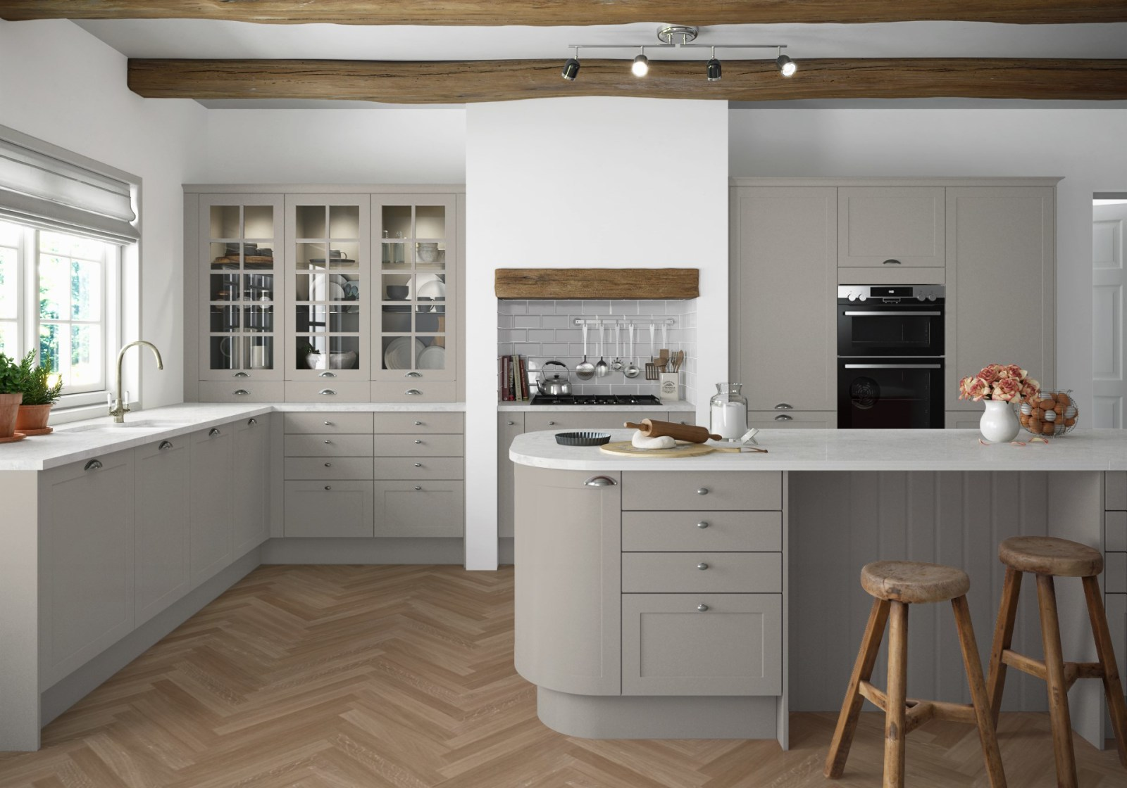 Dunham kitchen by Magnet. Smooth matt finish traditional or modern style available in over 20 colours.