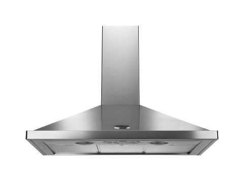 Rangemaster 90cm Chimney Hood Stainless Steel Chrome