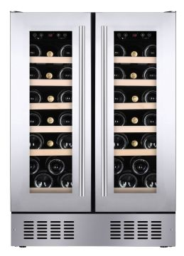 Under Counter Dual Zone Wine Cooler HWCB60DDUKSSM
