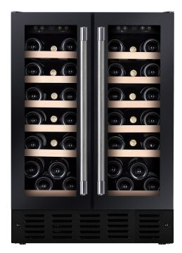 Under Counter Dual Zone Wine Cooler HWCB60DDUKBM