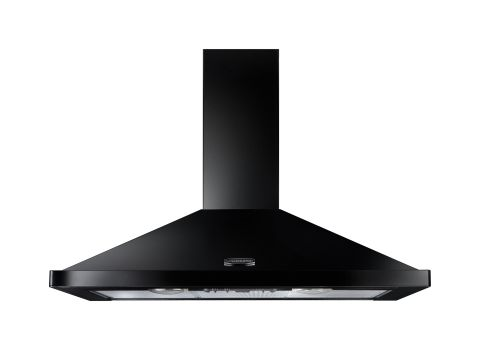 Rangemaster 100cm Chimney Hood Black Chrome