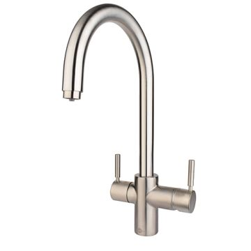 3IN1 STEAMING HOT WATER C-SPOUT BRUSHED TAP