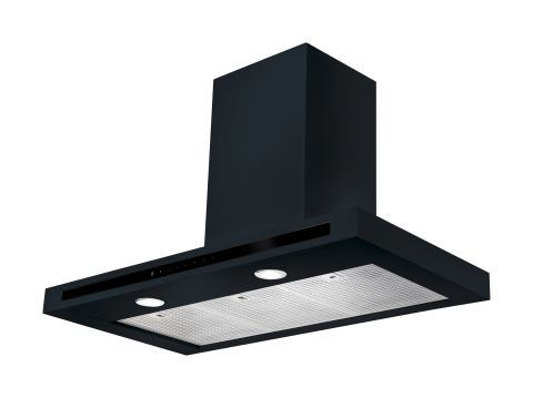 Rangemaster 110cm Square Hood Black Chrome