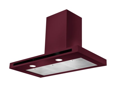 Rangemaster 110cm Square Hood Cranberry Chrome
