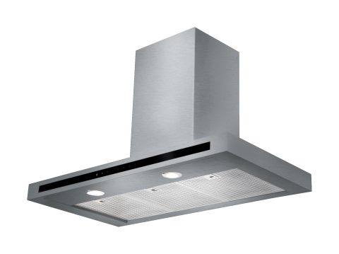 Rangemaster 90cm Square Hood Stainless Steel Chrome