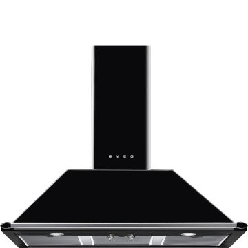 Smeg 100cm Black Victorian Chimney Hood