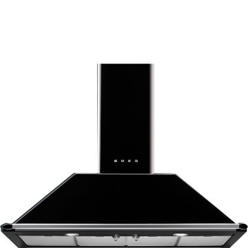 Smeg 110cm Black Victorian Chimney Hood