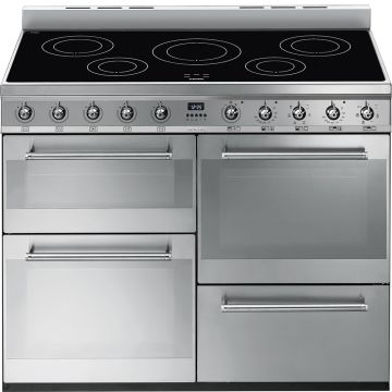 Smeg Symphony 110cm Stainless Steel Induction Rangecooker