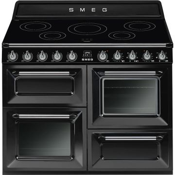Smeg Victoria 110cm Black Induction Rangecooker
