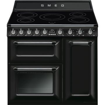 Smeg Victoria 90cm Black Induction Rangecooker