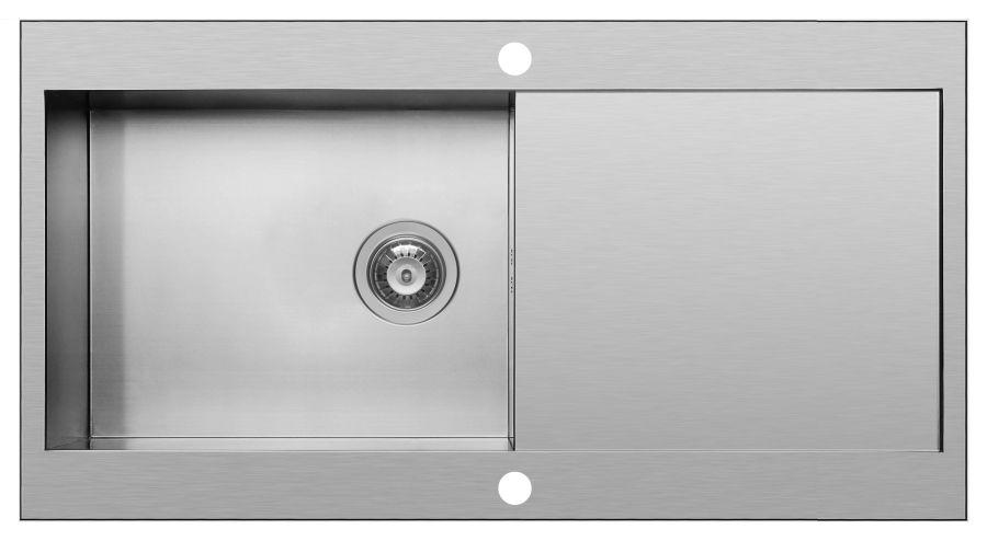 Pyramis Mondrian Stainless Steel Single Bowl Sink