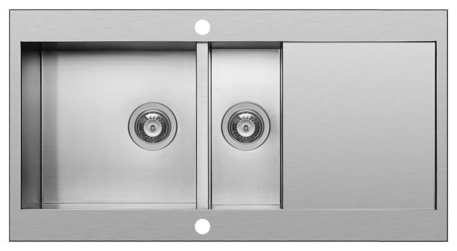 Pyramis Mondrian Stainless Steel 1.5 Bowl Sink