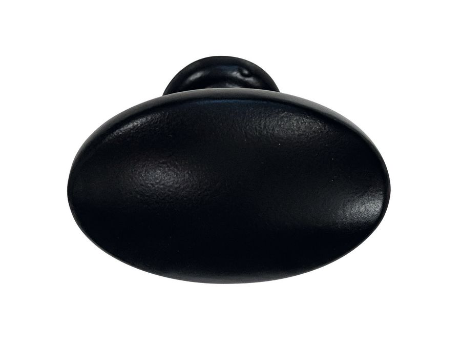 Traditional Matt Black Knob