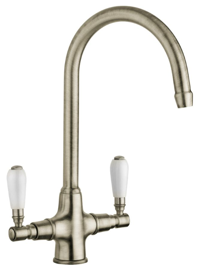 Swan Traditional Brushed Nickel Lever Tap