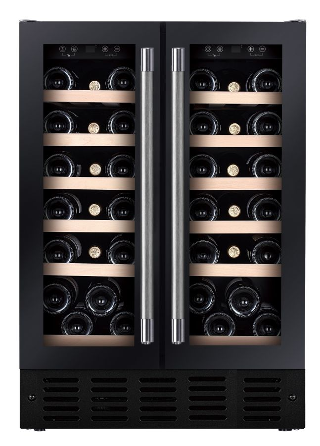 Under Counter Dual Zone Wine Cooler HWCB60DDUKBM