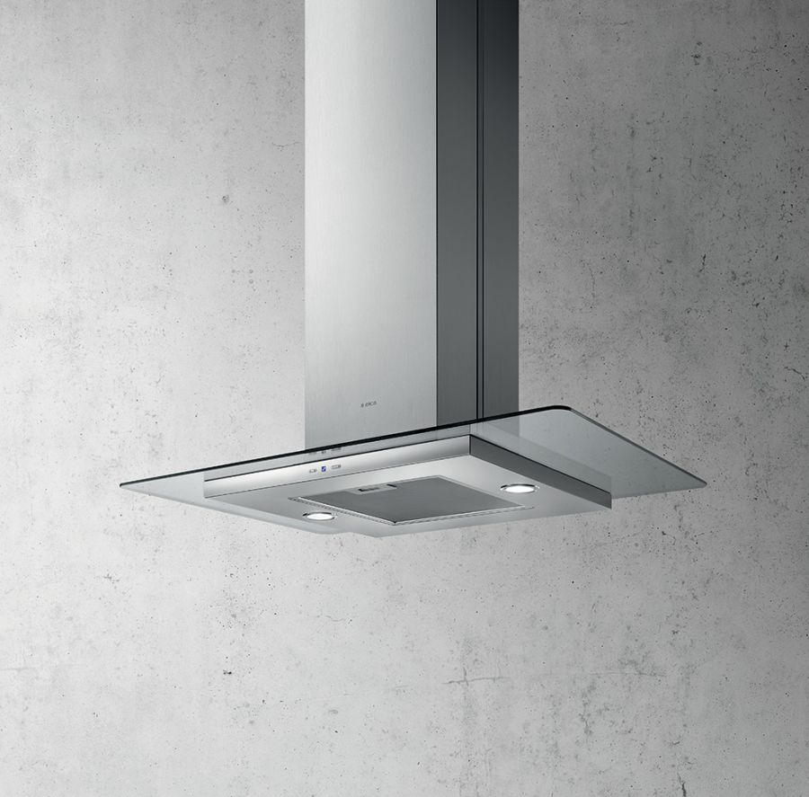 Elica 90cm Tribe Straight Island Glass Hood