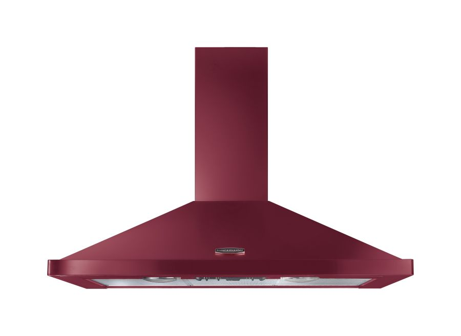 Rangemaster 90cm Chimney Hood Cranberry Chrome