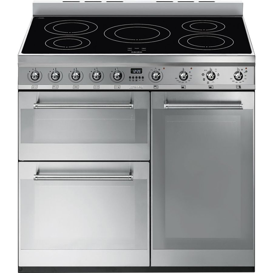 Smeg Symphony 90cm Stainless Steel Induction Rangecooker