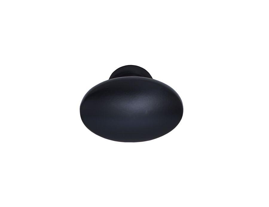 Oval svart