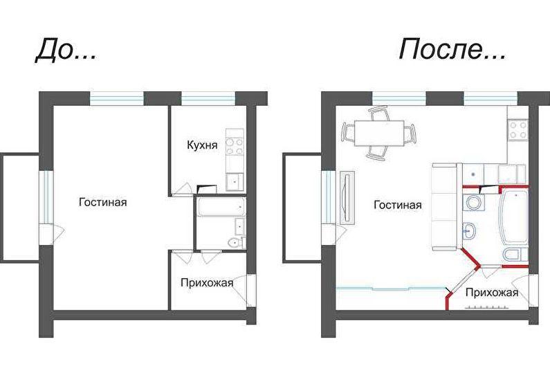 Перепланировка квартиры в хрущевке (75 фото)