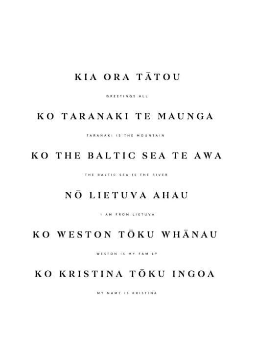Photo of Kristina   Maori Language Moment 2021