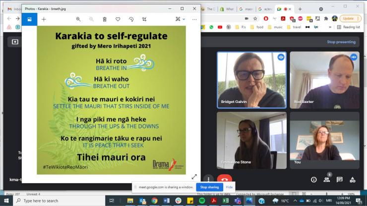 Photo of Bridget   Maori Language Moment 2021
