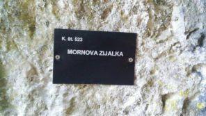 Označevalna tablica za jame