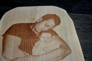 Lesena stenska slika