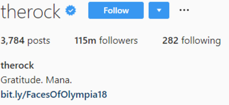Instagram profile layout