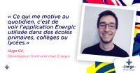 Hugo Gil, Développeur front-end chez Energic