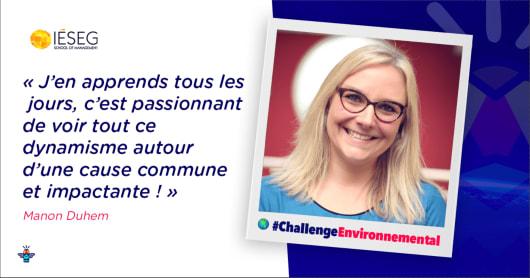 Portrait d'une engagée : Manon, Responsable Communication à l'IÉSEG