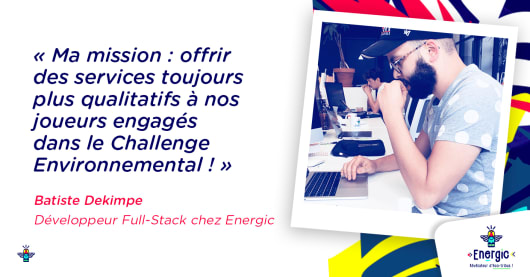 Batiste Dekimpe, Développeur Full-Stack chez Energic