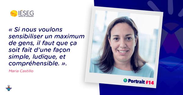 Portrait d'une engagée : Maria Castillo, Responsable RSE à l'IÉSEG