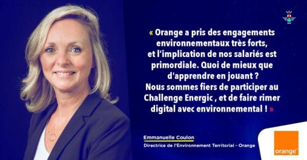 Verbatim d'Emmanuelle Coulon, Directrice de l'Environnement Territorial chez Orange