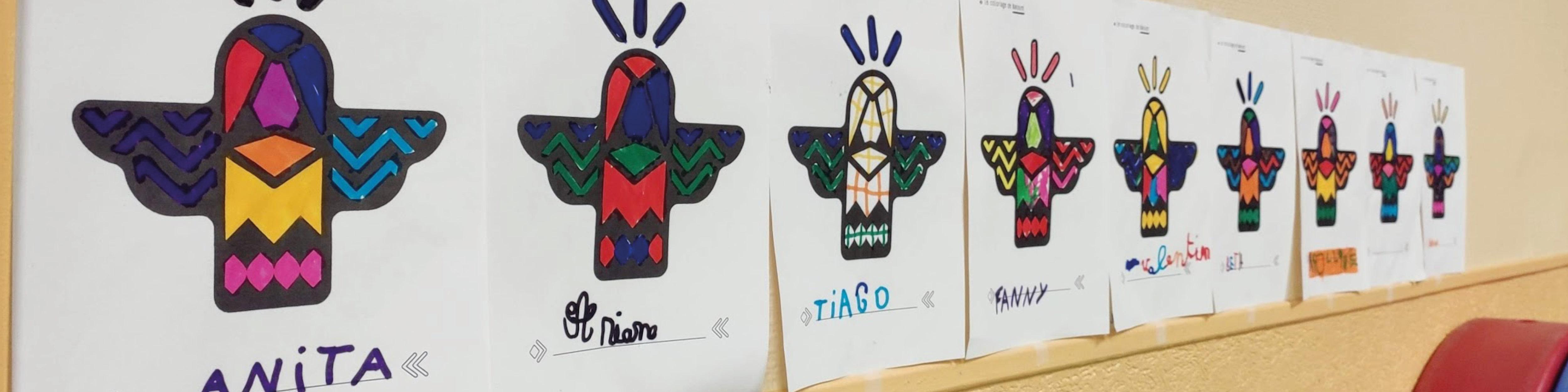 Les coloriages de Nakoum dans une école de la ville d'Arras