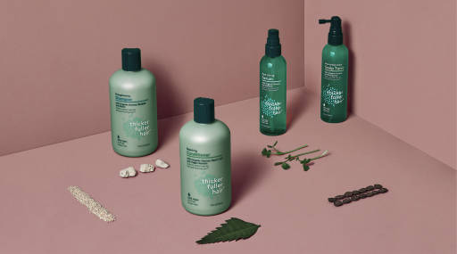 Thicker Fuller Hair product lineup