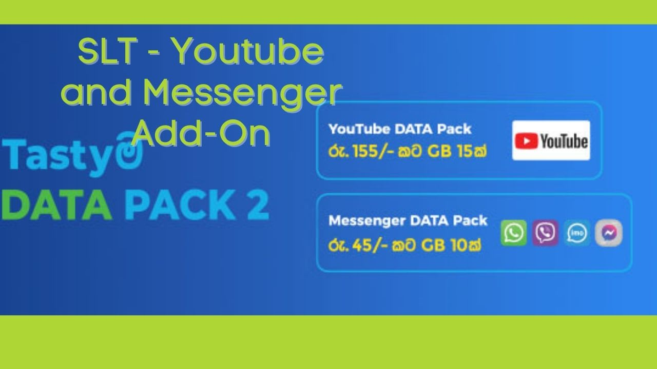 SLT Youtube , Messenger Ad ons