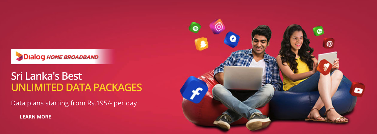 Dialog unlimited Data Plan Poster