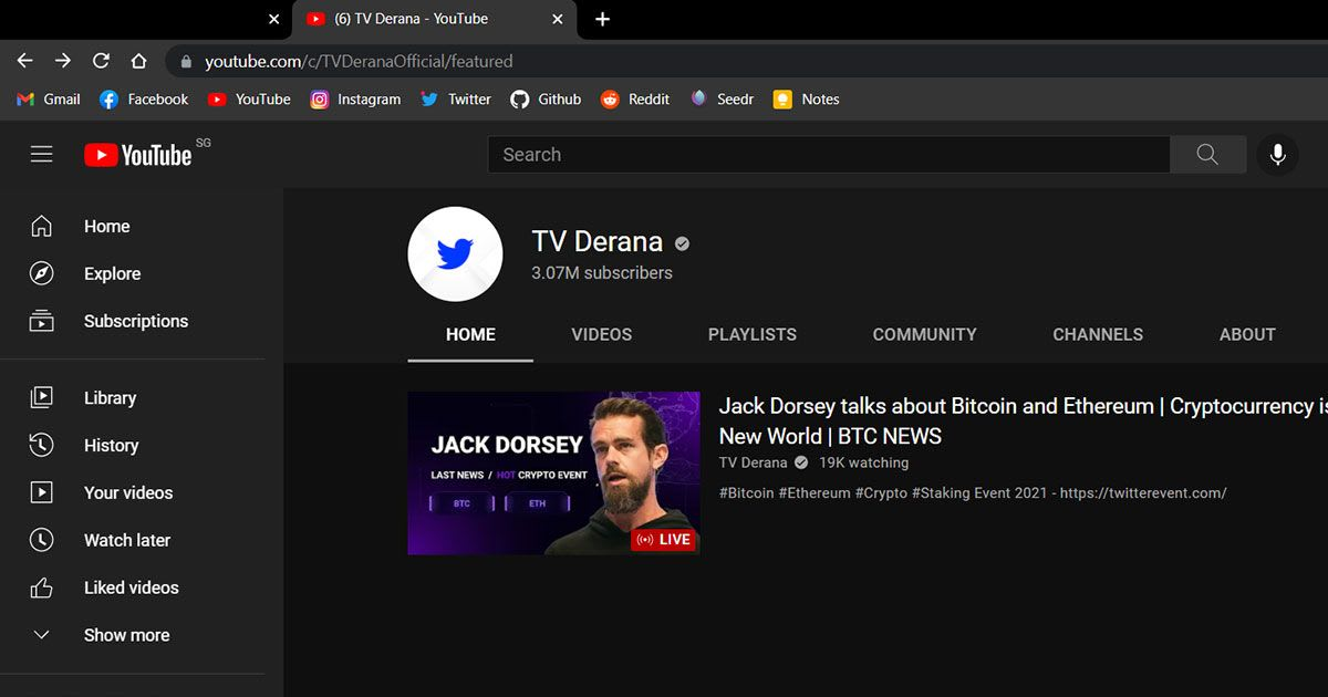 tv-derana-youtube-channel-hacked