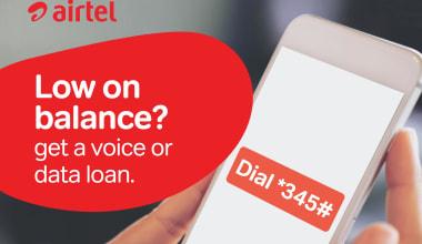 airtel loan code ussd