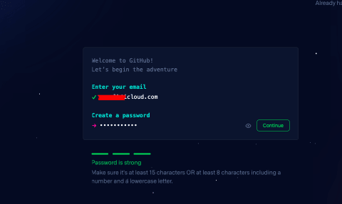 GitHub with personal id