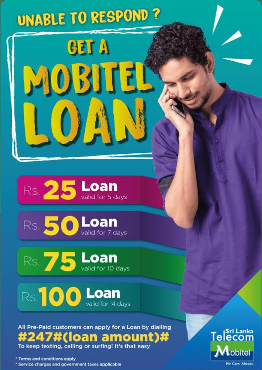 Mobitel Loan Prepaid Details