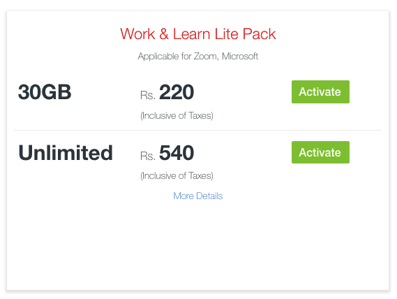 Work & Learn Lite Pack