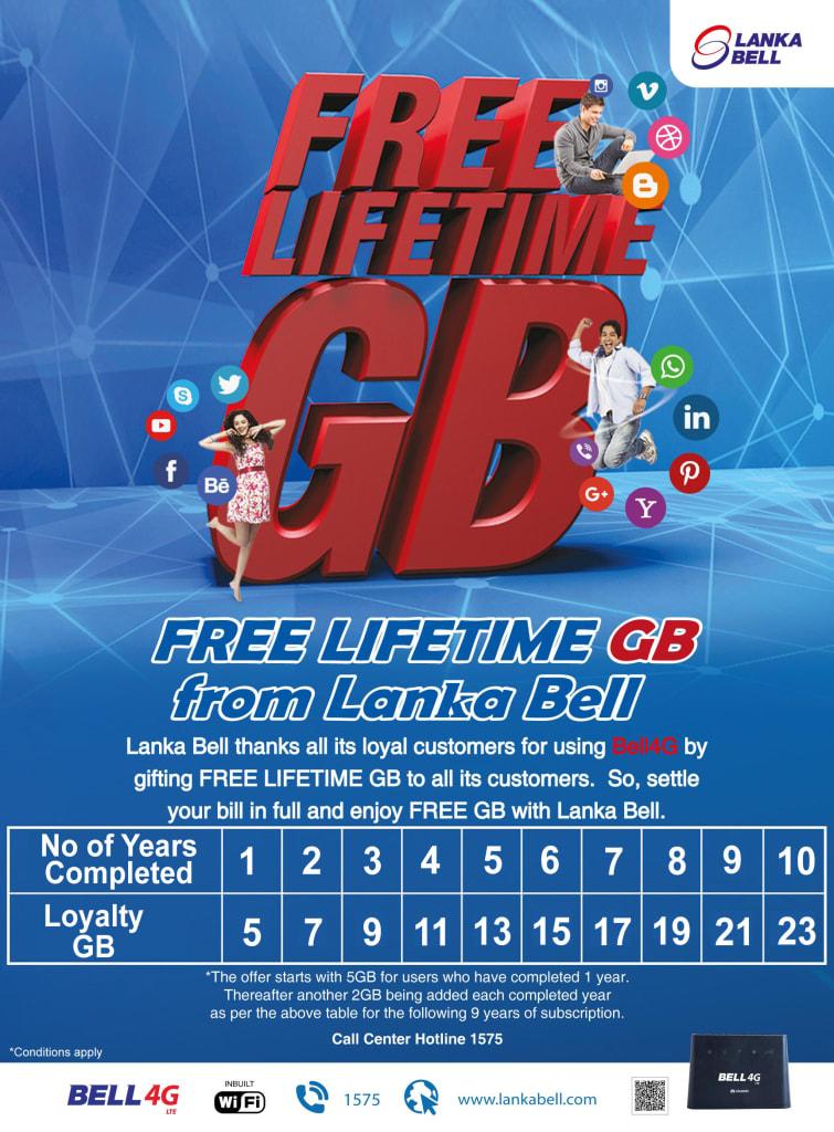 bell 4g LTE_free data