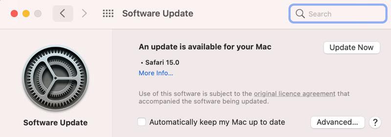 Safari 15 latest Version