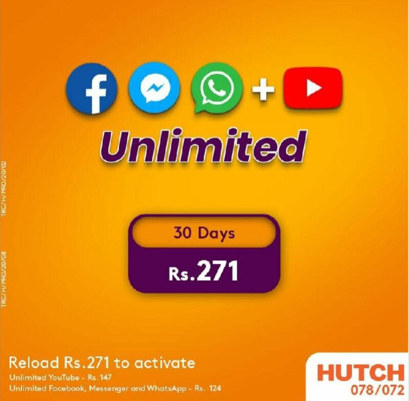 Hutch 271 Package How to Activate for Unlimited Internet