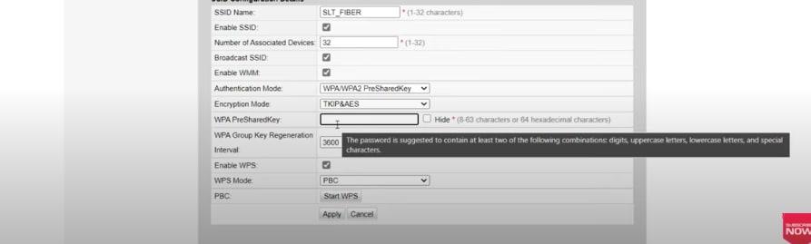SLT FIber Wifi Password Change 4
