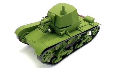 готовая модель танка T-26 (башня A-43)