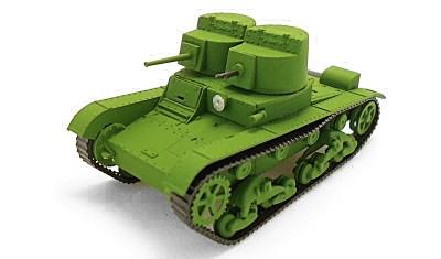 готовая модель танка T-26 (1932) / Б-3